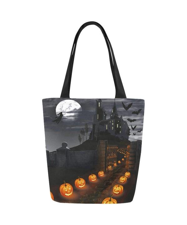 InterestPrint Halloween Pumpkin Handbag Shoulder