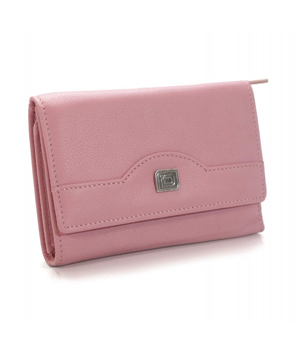 Ladies Compact Leather Trifold Protection