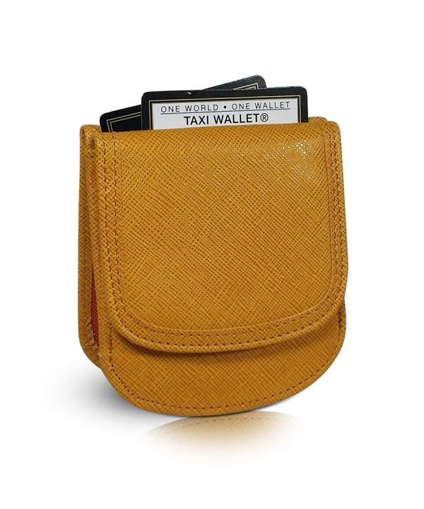 Taxi Wallet Marigold Folding Minimalist