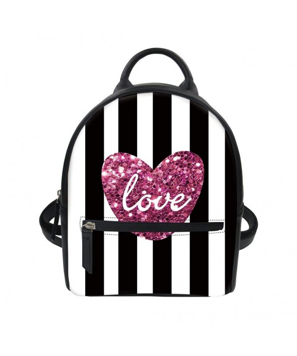 Striped Backpacks Shoulder Daypack Girls Love