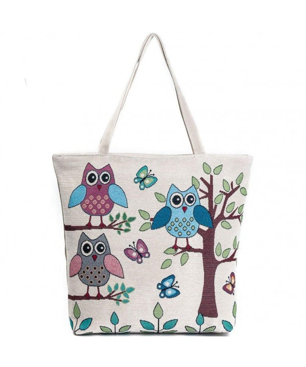 Donalworld Canvas Cartoon Shopper Handbags