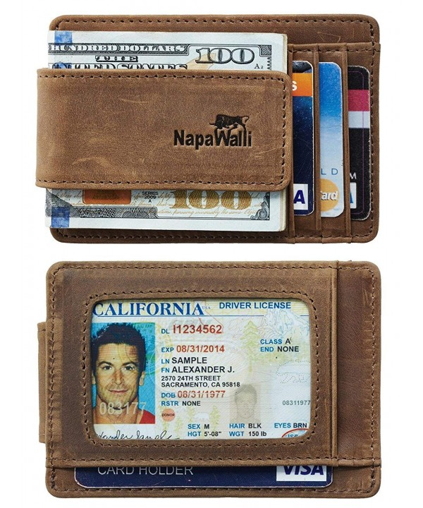 NapaWalli Genuine Leather Magnetic Minimalist
