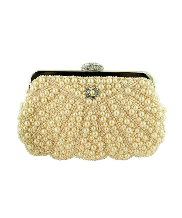 Pearl Beaded Evening Purse Crystals