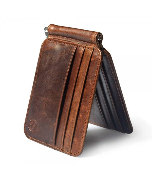 Multi function Genuine Leather Bifold cardMens