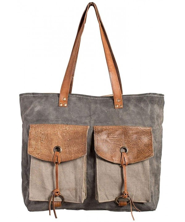 Flap and Strings Shoulder Bag
