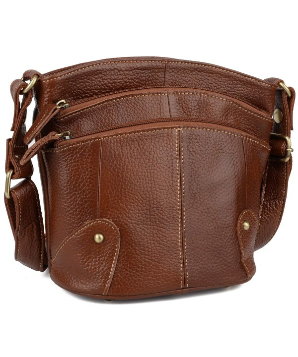 YALUXE Cowhide Genuine Crossbody Shoulder