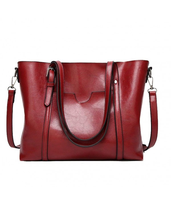 Donalworld Satchel Handbag Leather Shoulder
