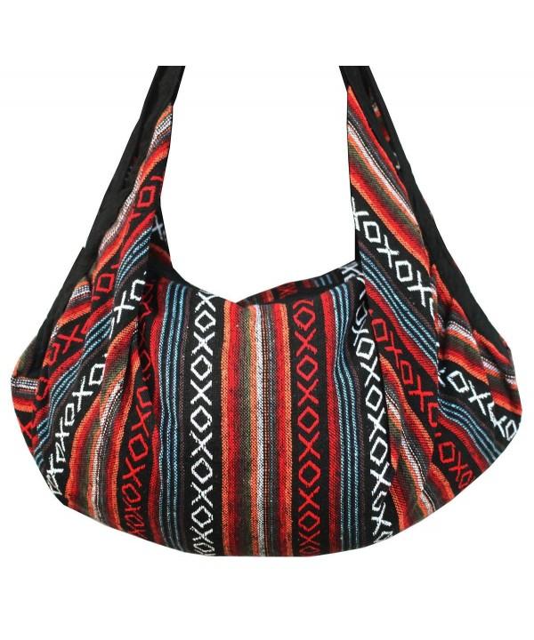 AM Striped Shoulder Crossbody Backpack