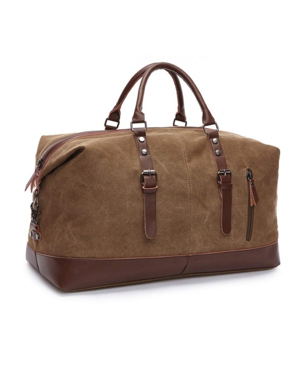 Seamand Coffee Leather Weekender Overnight