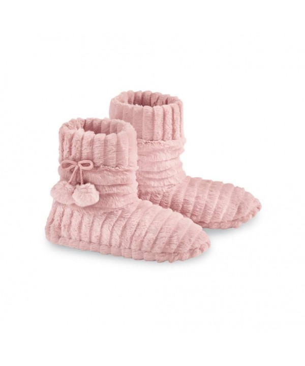 Slipper Booties Fleece Stylish Pom Poms