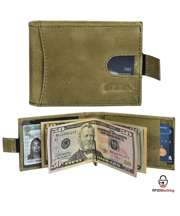 RFID Leather Bifold Wallets 4 25x3 5x0 75
