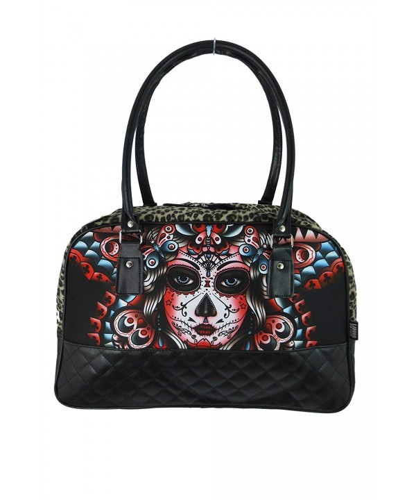 Liquor Butterfly Tattoo Rockabilly Handbag