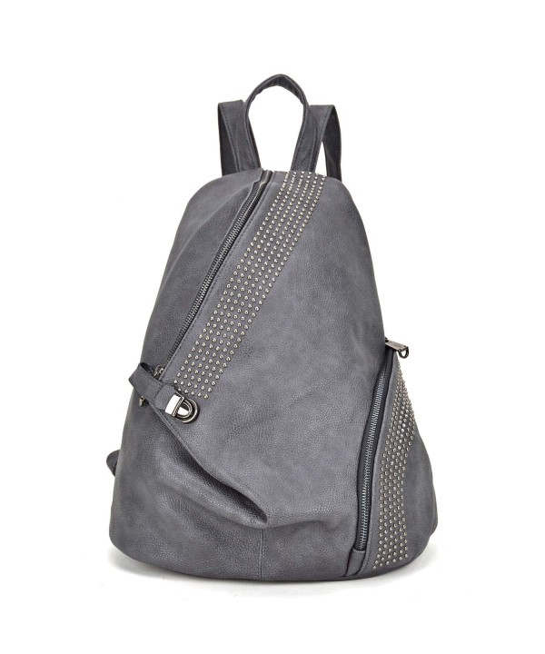 MKY Fashion Leather Backpack Daypacks