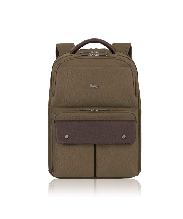 Solo Apollo Laptop Backpack Khaki