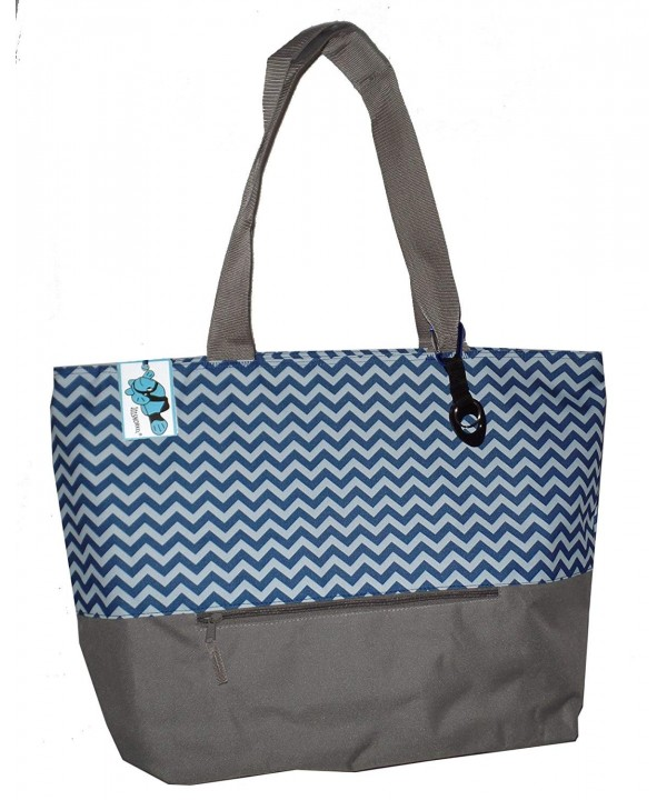Chevron Weekender Zippered PocketCan Personalized