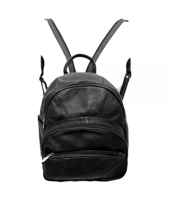 Silver Genuine Leather Backpack Organizer
