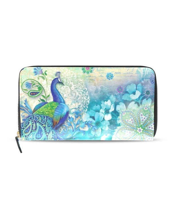 Womens Peacock Pattern Wallet Holder