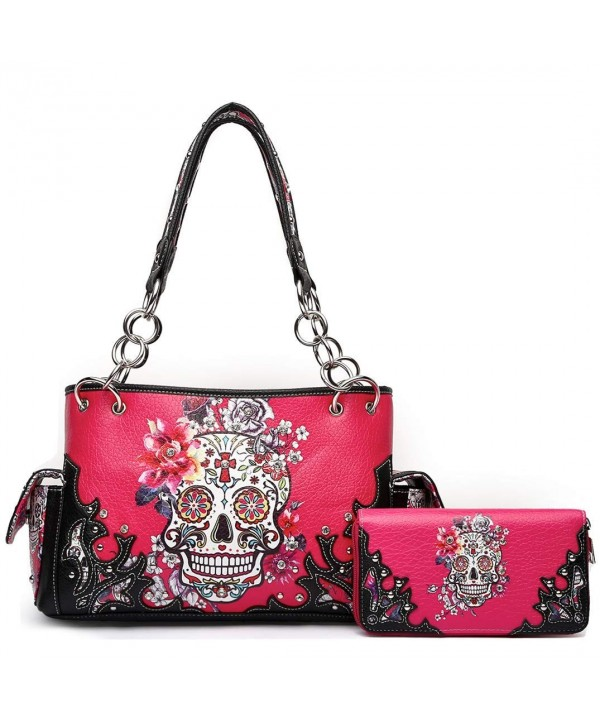 Flower Concealed Handbag Shoulder Wallet