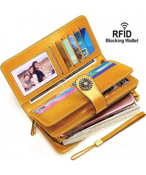 Wallets Blocking Genuine Leather Capacity