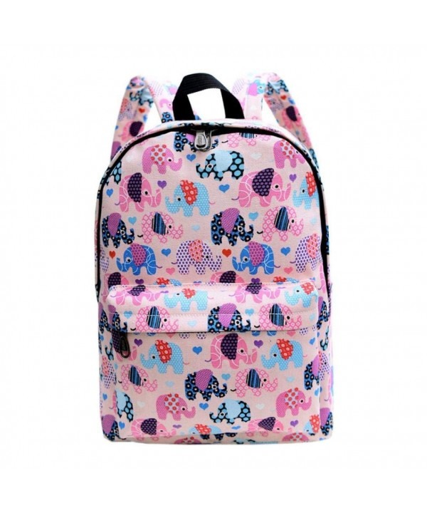 Sagton Elephant Pringting Backpack CanvasSchool