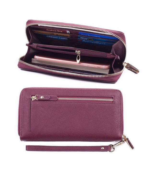 Bricraft Leather Wristlet Wallet Organizer