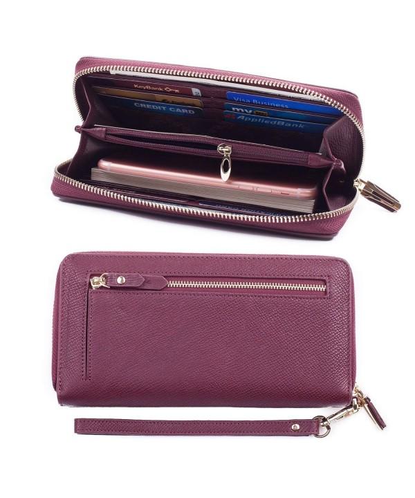 Bricraft Leather Wristlet Wallet Organizer