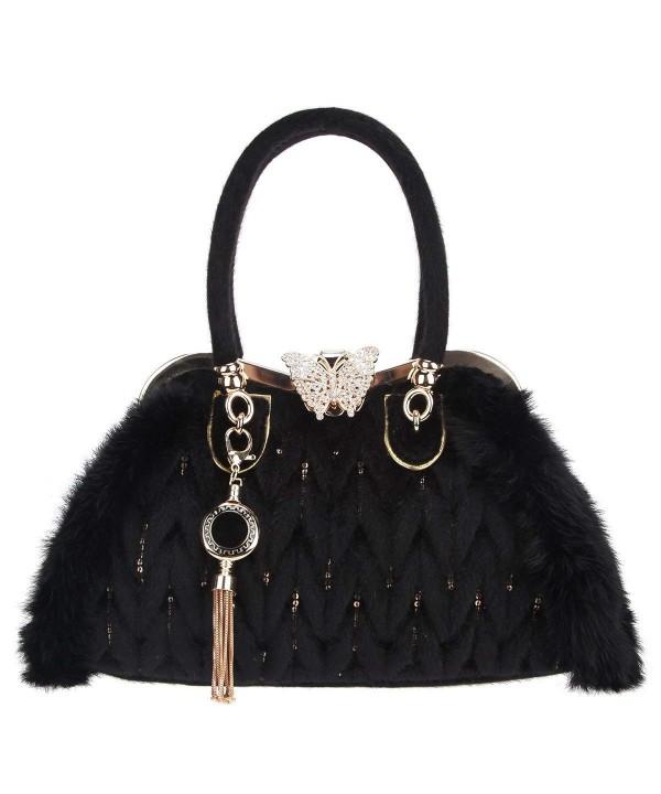 Fawziya Butterfly Handbags Sequins Satchel