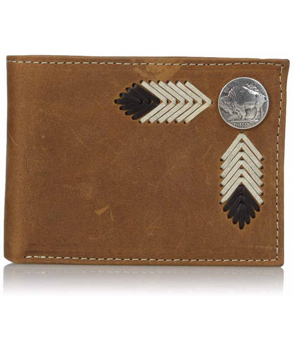 Nocona Buffalo Nickle Bifold Brown