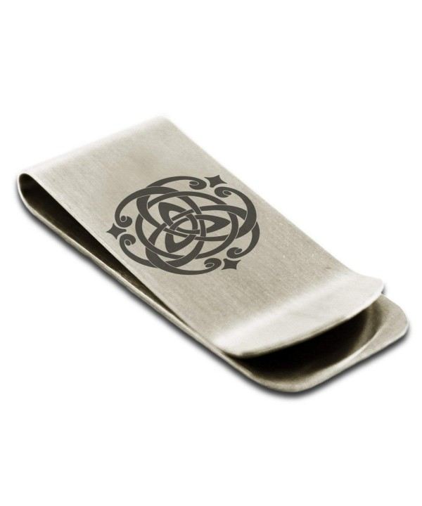 Stainless Celtic Triquetra Symbol Engraved