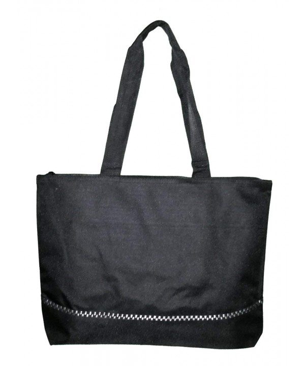 Zipper Black Accent Stripe Poly