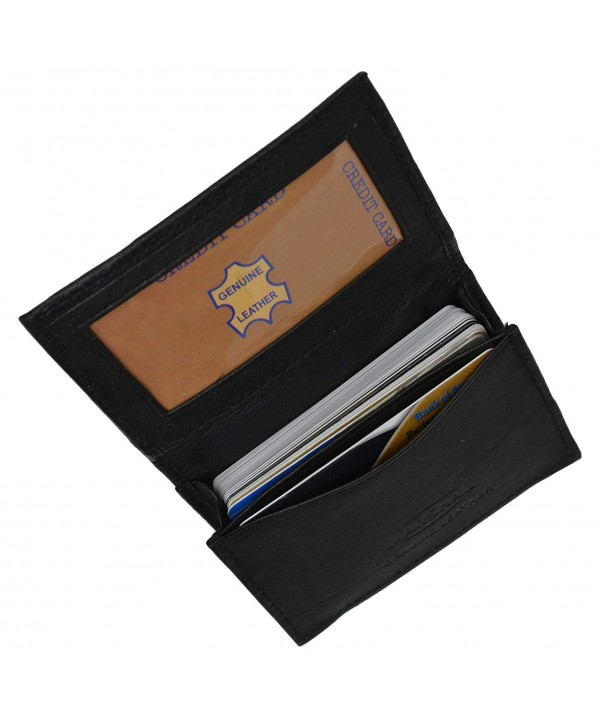 Genuine Leather Expandable Business Wallet