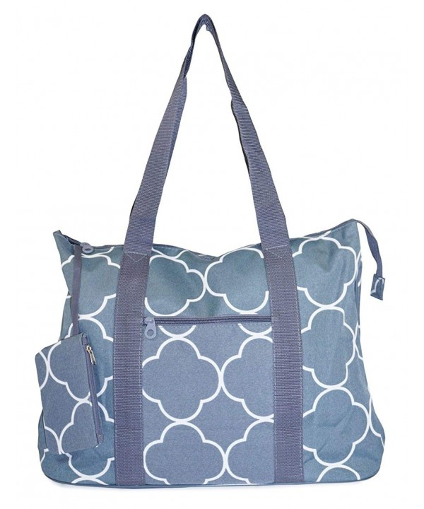 Ever Moda Quatrefoil Tote X Large