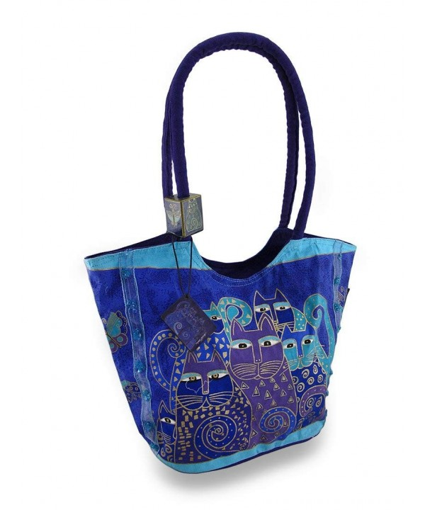 Indigo Scoop Tote Laurel Burch