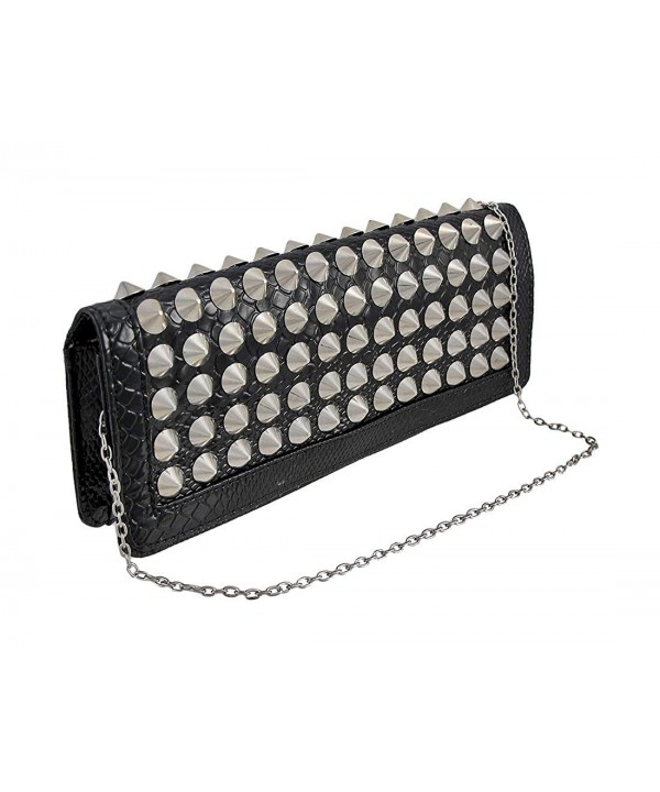 Womens Clutch Handbags Textured Conical