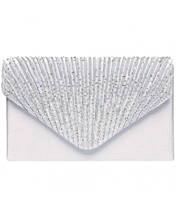Fashion Rhinestone Evening Envelope Pleated