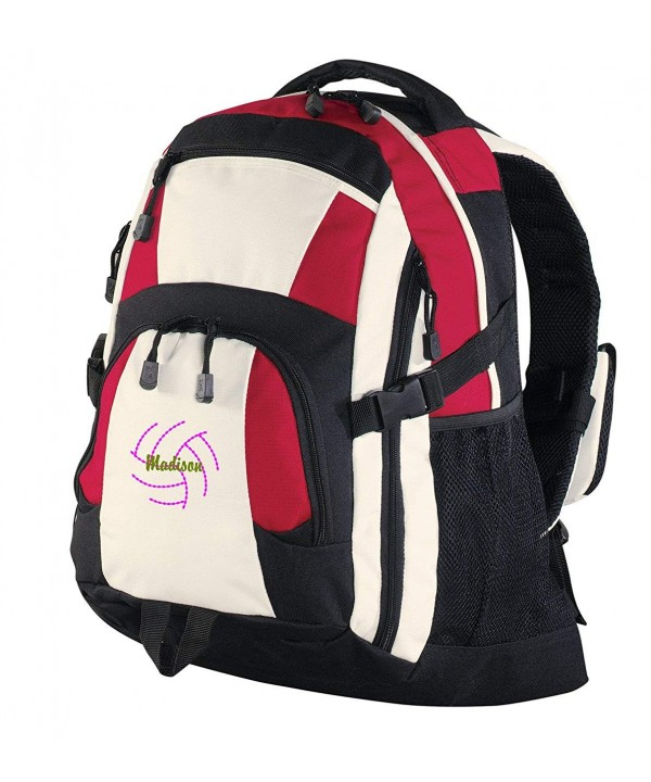 Personalized Volleyball Urban Backpack Black