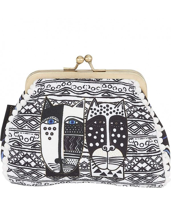 Laurel Burch Purse Black White