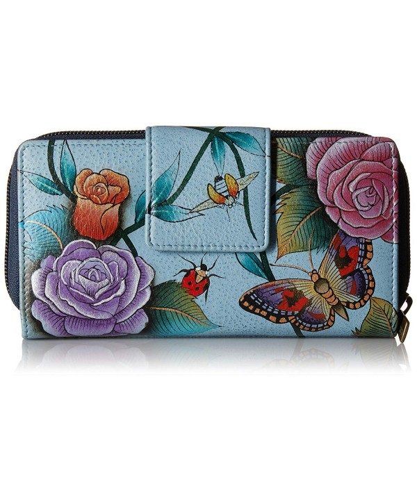 Anuschka Painted Leather Womens Organizer