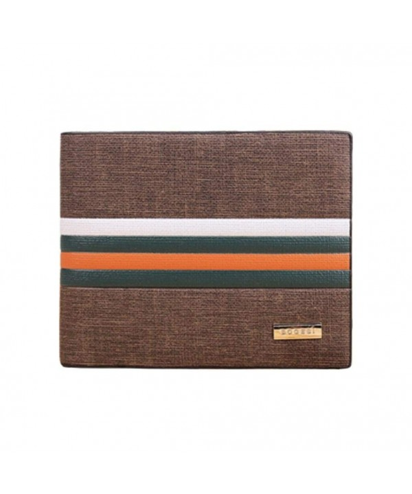DZT1968 Stripe Leather Bifold Clutch