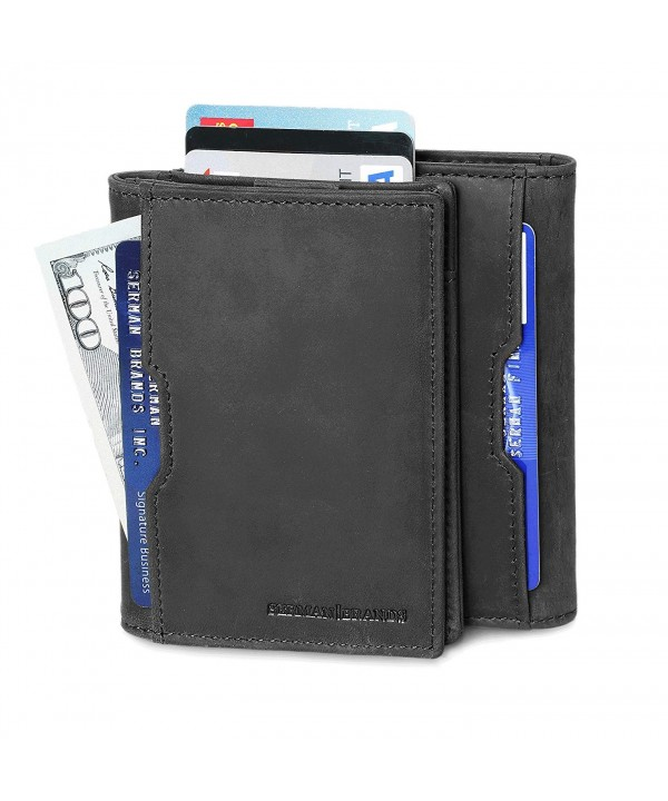 Wallets leather Blocking Minimalist Charcoal