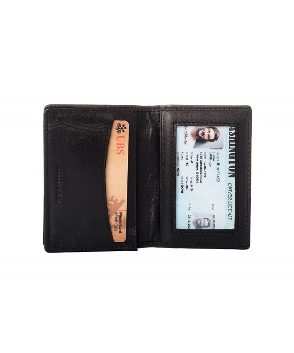 Leather Credit Holder Bifold Blocking
