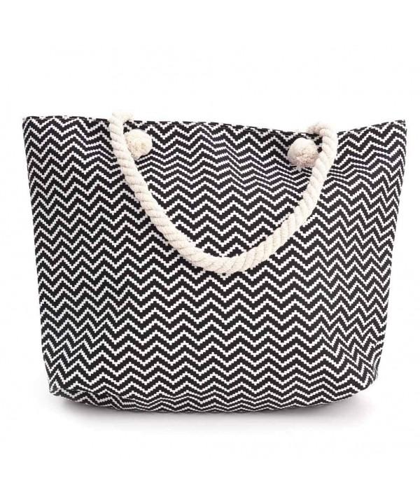 Stripes Shopping Shoulder Multifunctional Capacity