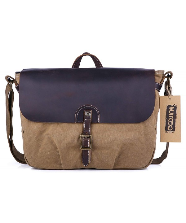 Gootium Canvas Leather Messenger Bag