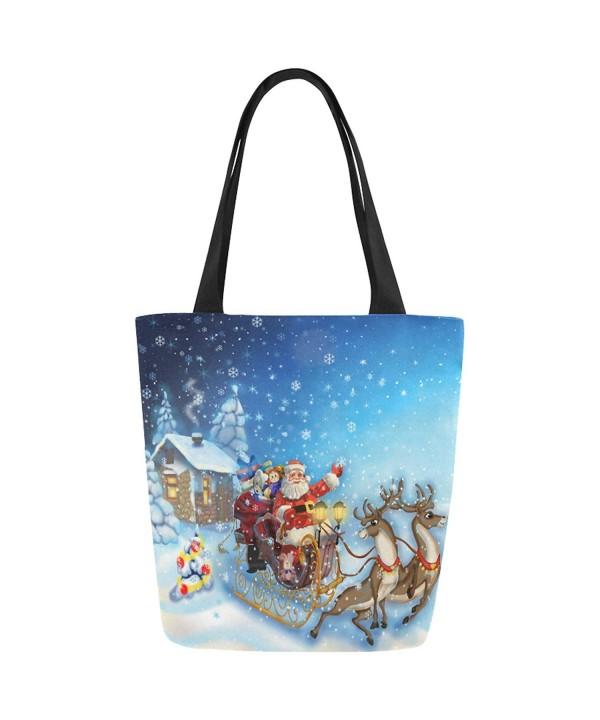 InterestPrint Christmas Clause Handbag Shoulder