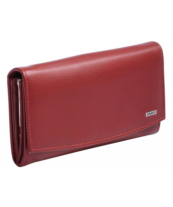 Avanco Womens Leather Purse Cherry