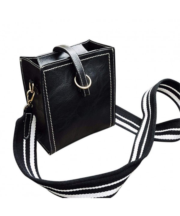 ChainSee Striped Shoulder Messenger Crossbody