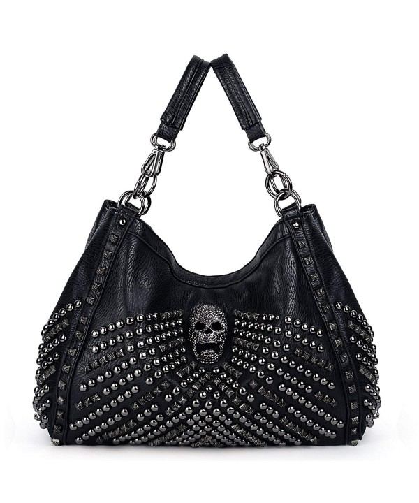 UTO Capacity Studded Handbag Shoulder