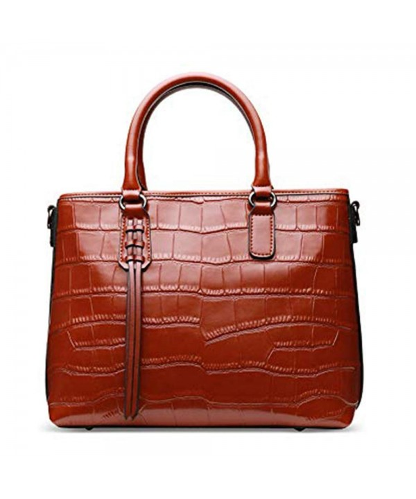 Genuine Handbags Embossed Crocodile Top handle Shoulder
