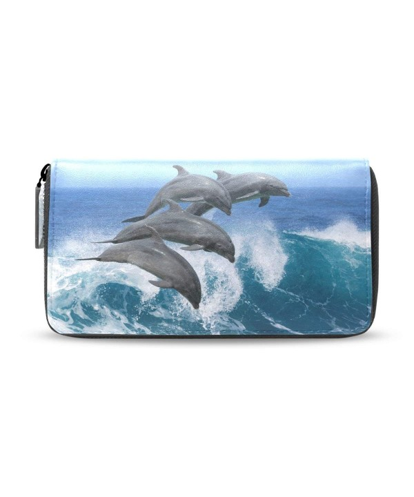 ALAZA Dolphin Clutch Handbag Organizer