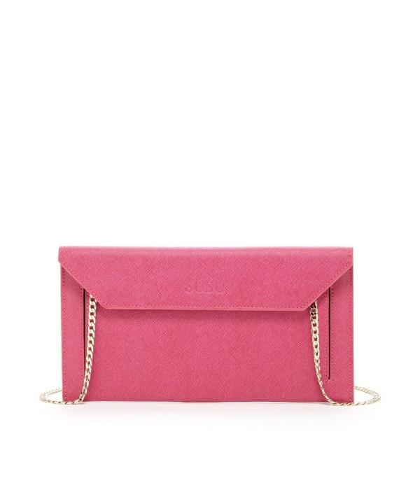 Envelope Saffiano Clutches Designer Handbags